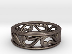 "Bracelet ""Move"" in Polished Bronzed Silver Steel: Small"