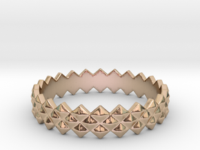 Protrude Ring (Size 4-13)  in 14k Rose Gold Plated Brass: 7 / 54