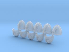 Space Vikings XII brotherhood Mk7/8 pads L in Smooth Fine Detail Plastic