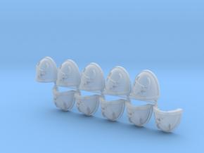 Space Vikings XIII brotherhood Mk7/8 pads R in Smooth Fine Detail Plastic