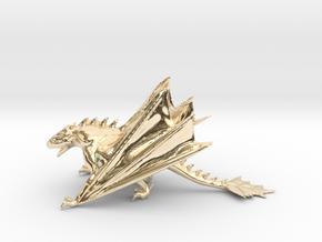 Dragon Model in 14K Yellow Gold: Medium