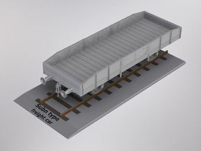 1/72nd scale Subn type freightcar in White Natural Versatile Plastic
