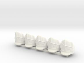 5 x British Scotts Greys  in White Processed Versatile Plastic