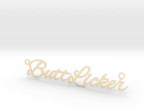 ButtLicker necklace in 14k Gold Plated Brass