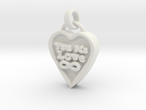 You Me Love Forever in White Natural Versatile Plastic