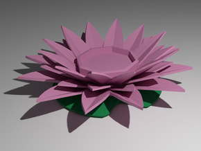 Water Lily Candle Holder in Full Color Sandstone