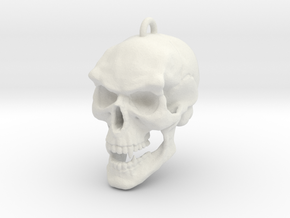 skull pendant in White Natural Versatile Plastic