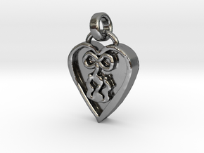 My Love Burns Forever in Polished Silver (Interlocking Parts)