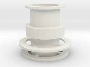 Vase in White Natural Versatile Plastic