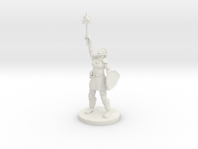 Female Dragonborn Paladin / Cleric in White Premium Versatile Plastic