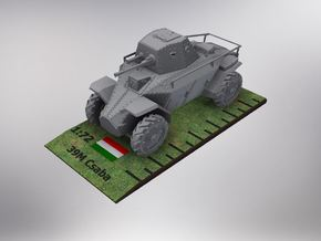 1/72nd scale 39M Csaba hungarian armoured car in Smooth Fine Detail Plastic