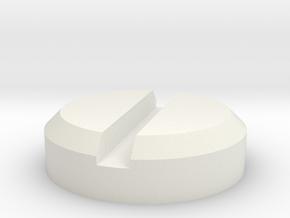 roadhog_screwheads in White Natural Versatile Plastic: 28mm