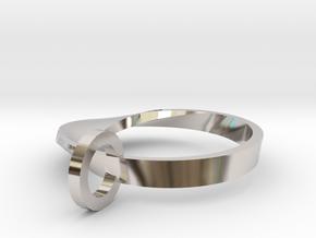 Half Mobius Pendant in Rhodium Plated Brass
