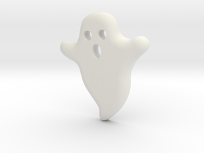DIY Frebird Fridge Magnet - Mini Ghost (negative) in White Natural Versatile Plastic