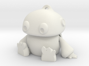 Mini Robot in White Natural Versatile Plastic: Small