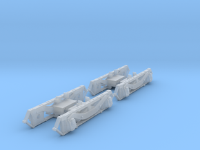 HO GE Steeplecab Sideframes for Bachmann Trucks in Smooth Fine Detail Plastic