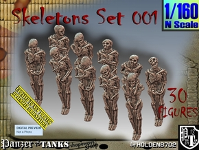 1/160 Skeleton Set001 in Smooth Fine Detail Plastic