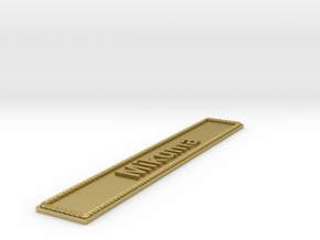 Nameplate Mikuma in Raw Brass