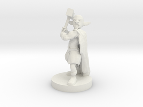 Deep Gnome Barbarian in White Natural Versatile Plastic