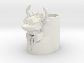 Mr.Deer in White Natural Versatile Plastic