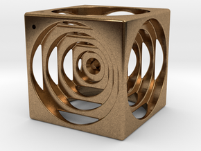 think outside the cube in Natural Brass