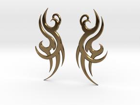 """Tribal """"Wind spirit"""" Earrings in Polished Bronze"""