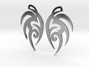 "Tribal ""Earth spirit"" Earrings in Polished Silver"