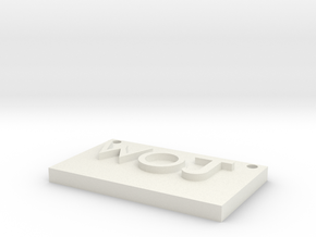 woj(world of jesus) in White Natural Versatile Plastic