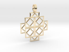 SQUARE DEALS in 14k Gold Plated Brass
