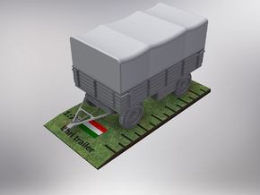 1/72nd scale Uhri trailer with canopy in Smooth Fine Detail Plastic