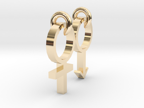 Equality between men and women in 14K Yellow Gold