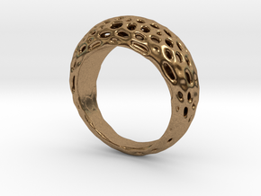 "Ring Voronoi ""Extravagaza""  #1B  in Natural Brass"