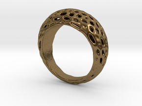 "Ring Voronoi ""Extravagaza""  #1B  in Natural Bronze"