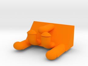 Hook in Orange Processed Versatile Plastic