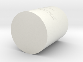 Pen container in White Natural Versatile Plastic