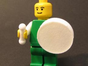 Bodhran (Irish Drum) for Minifigs in White Strong & Flexible