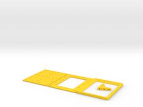 DIY 3.5'' x 2.5'' Frebird picture frame kit in Yellow Processed Versatile Plastic