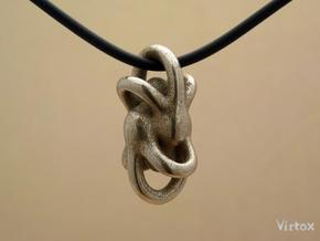 Peace of Love (3 sizes) in Polished Bronzed Silver Steel: Medium