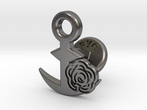 Cufflinks - Flower...Circle! in Polished Nickel Steel