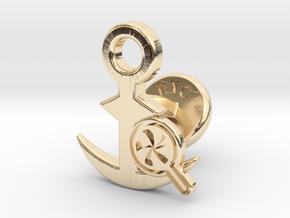 Cufflinks - Do your Rubesty! in 14K Yellow Gold