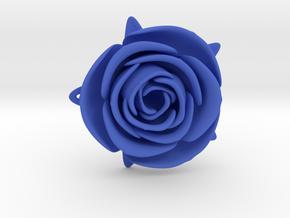 Blue Rose in Blue Processed Versatile Plastic