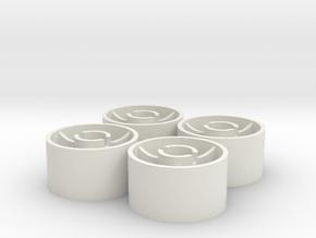 ass 4 jantes arriere D20 plat +0 in White Natural Versatile Plastic