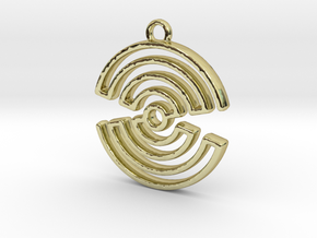 hourglass spiral in 18k Gold Plated Brass