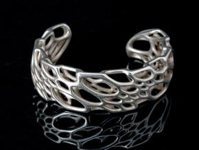 Bone Cuff sz S/M in Stainless Steel