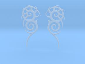 "Tribal ""Death essense"" Earrings in Smoothest Fine Detail Plastic"