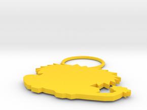 Lion in Yellow Processed Versatile Plastic: Medium