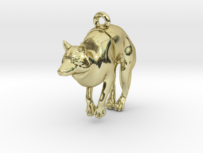 "Pendant ""Dog"" in 18k Gold Plated Brass"
