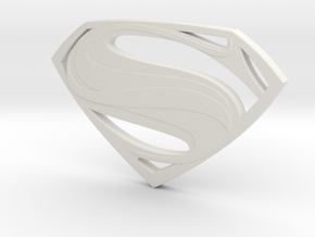 Man Of Steel - Double Sided in White Premium Versatile Plastic