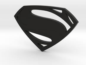 Man Of Steel - Double Sided in Black Premium Versatile Plastic
