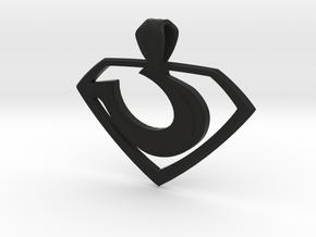 """Zod """"Man of Steel"""" Pendant in Black Premium Versatile Plastic"""
